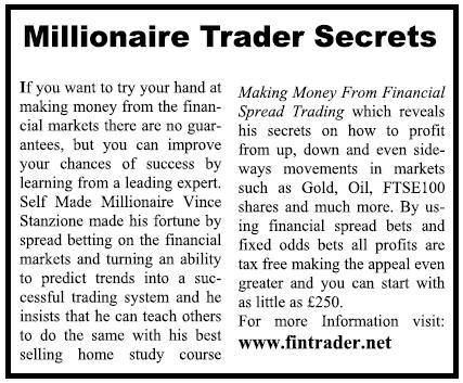 Vince Stanzione Millionaire Trader Secrets Independent Newspaper