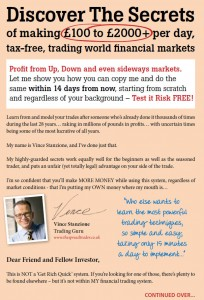 Vince Stanzione Making Money From Spread Trading